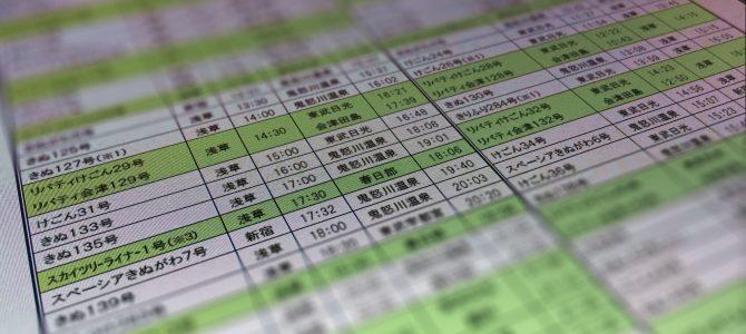 東武鉄道新型特急「リバティ会津」の時刻表について